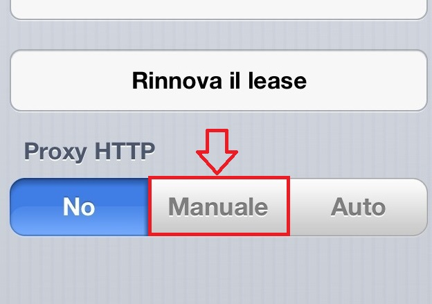Proxy per IPad e Iphone 2